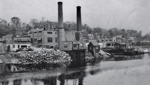 Historic photo of the former Braintree Electric Lighting Department in Braintree, Massachusetts